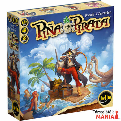 Iello Pina Pirata társasjáték, angol nyelvű
