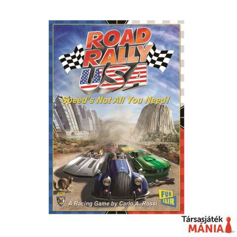 Road Rally USA társasjáték, angol nyelvű