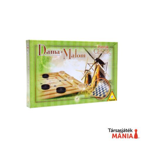 Piatnik Classic Dáma és Malom társasjáték