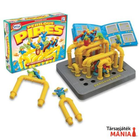 Popular Playthings Perilous Pipes logikai játék