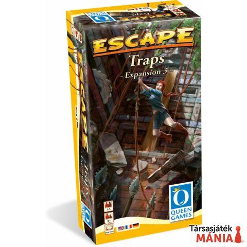 Queen Games Escape Traps 3. angol nyelvű kiegészítő