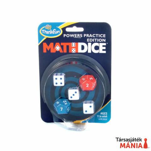 ThinkFun Math Dice Powers hatványok társasjáték