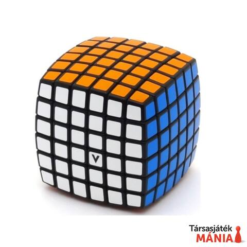 V-CUBE 6x6 versenykocka fekete lekerekített