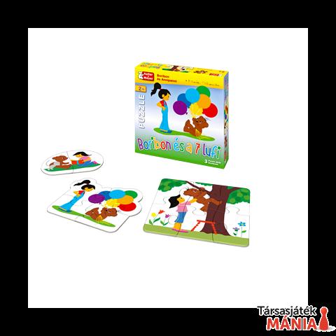 Boribon és a 7 lufi Puzzle (3 puzzle 2/4/6 elemes) társasjáték