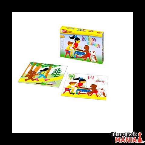Boribon Szülinapja Puzzle (2 puzzle 12/24 darabos) társasjáték