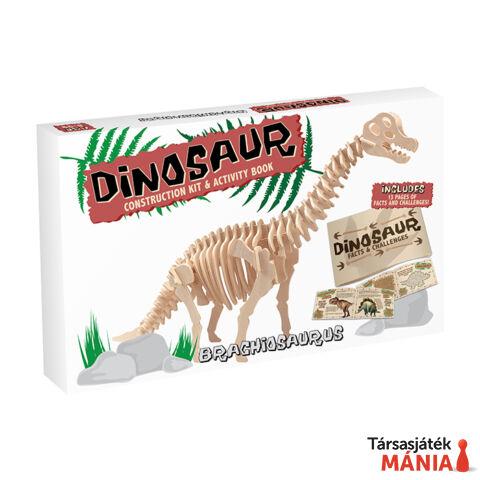 Brachiosaurus Professor Puzzle fa építő szett, nagy