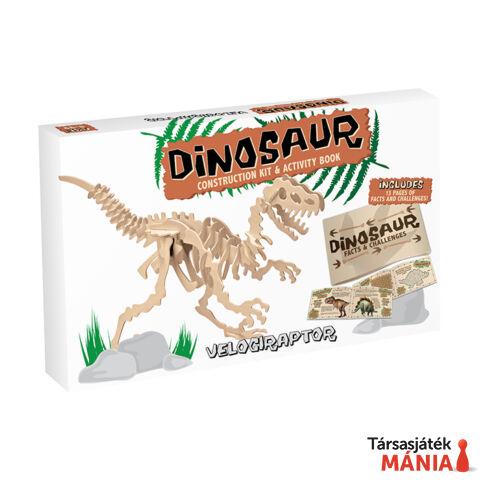 Velociraptor Professor Puzzle fa építő szett, nagy
