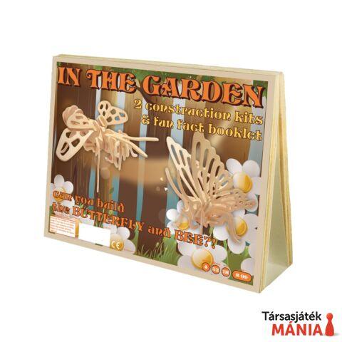Pillangó és méhecske  Professor Puzzle fa építő szett
