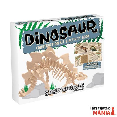 Stegosaurus Professor Puzzle fa építő szett, közepes