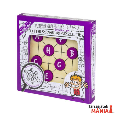 Sense Sizzler's Letter Scrambling Professor Puzzle logikai játék