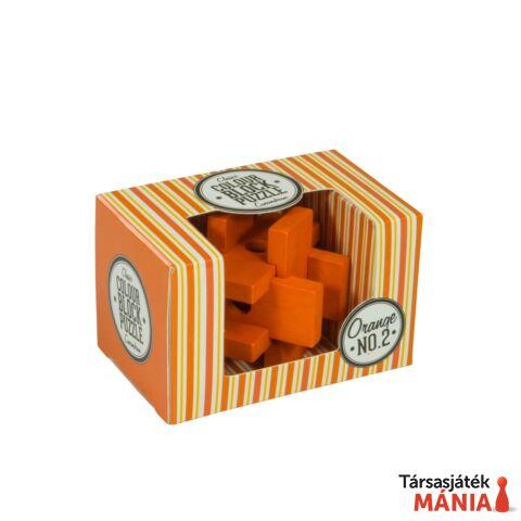 Professor Puzzle színes blokk puzzle, narancs