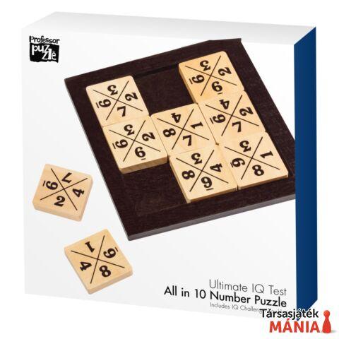 All in 10 Professor Puzzle logikai játék