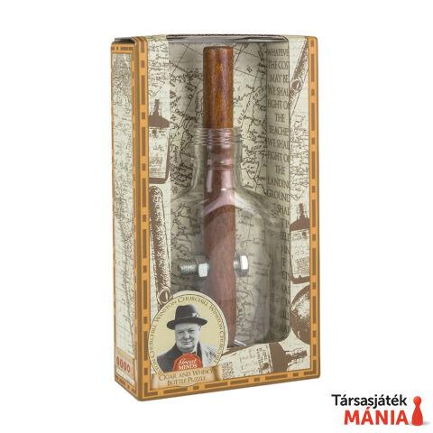 Professor Puzzle Nagy Elmék Churchill szivar és whisky-s üveg ördöglakat