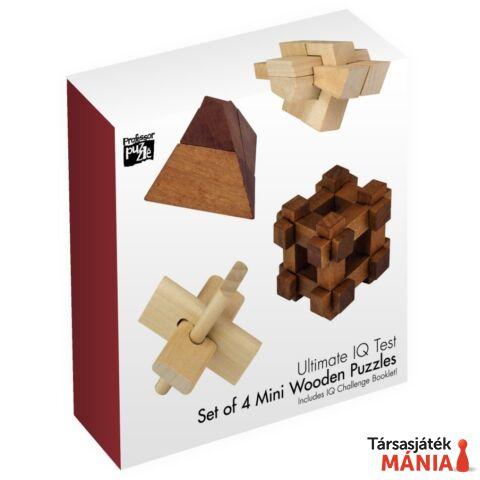 Ultimate IQ 4 db-os Professor Puzzle fa ördöglakat szett
